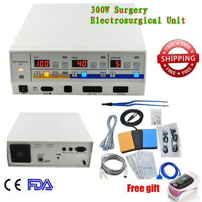 CE High Frequency Electrosurgical Unit Diathermy Machine Surgery cautery + Gift