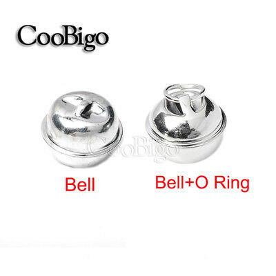 Pick 20mm Silver Christmas Jingle Bell With O-Ring Pendant Charms Craft Bells
