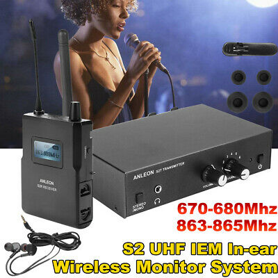 ANLEON S2 UHF Wireless In-ear Monitor System Stereo IEM Stage Monitoring System