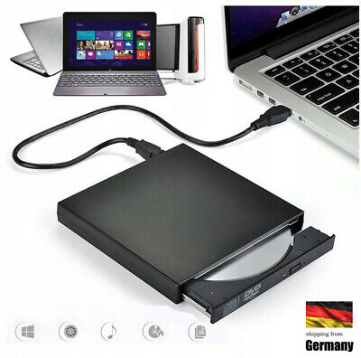 Brenner Laufwerk  für Notebook PC DVD Laptop  DVD-ROM Slim Extern USB 2.0 CD-RW