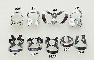 Set of 5 Dental Rubber Dam Clamps Endodontic 60# Molars Stainless Durable Use