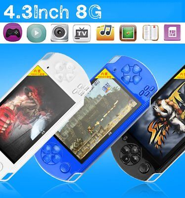 USA PSP Portable Handheld Video Game Console Player Built-in 100 Games 4.3'' B