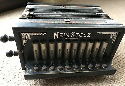 Vintage 'Mein Stolz' Accordion. In Need Of Some Restoration. Good Sound!