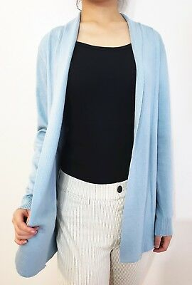 Women Lightweight Thin Draped Cardigan Soft Knitted Sweater Open Front Solid