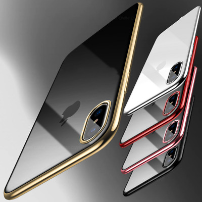 """for iPhone XS MAX 6.5""""  XR Xs  Luxury Slim Shockproof Silicon Clear Case Cover"""