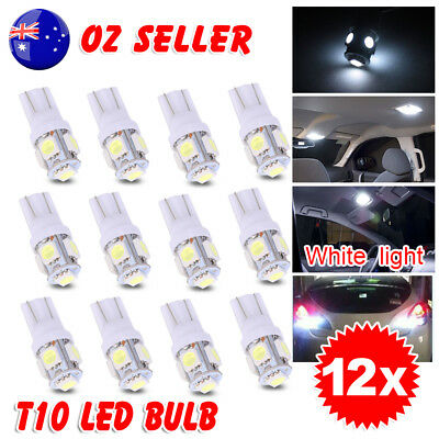 White T10 LED 5050 SMD W5W Wedge Tail Side Parker Bulb Car Number Plate Light