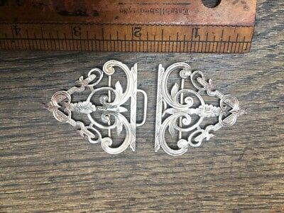 Beautiful antiqueSolid Silver Nurses Belt Buckle
