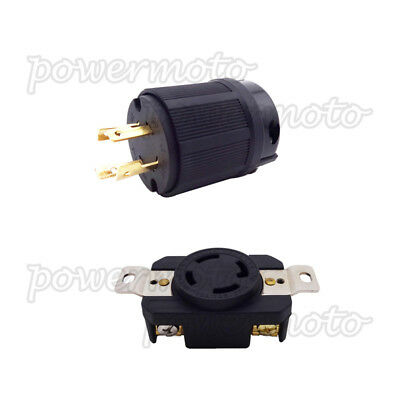 4 Prong Generator Receptacle Twist Lock Socket 30AMP 125/250V NEMA L14-30R