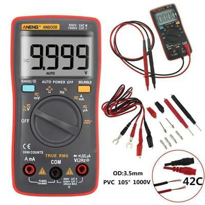 AN8008 True-RMS LCD Digital Multimeter 9999 Counts Ammeter Voltage Ohm Meter XI
