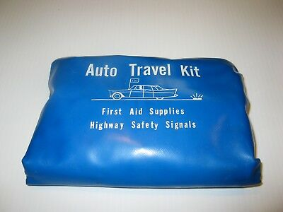 Vintage Auto First Aid/Highway Safety Travel Kit Akron Novelty. Book dated 1959
