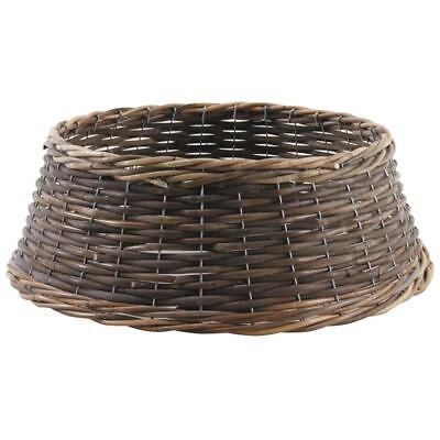 Large Rustic Natural Wicker Christmas Tree Stand Surround Skirt Base Cover Tidy