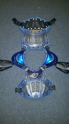 Fox Racing AIRFRAME Roost Deflector Guard Chest Protector MX ATV Off Road BLUE