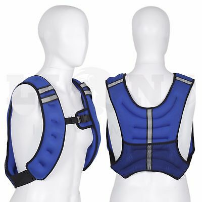 10kg weighted vest body fitness running jacket top strength resistance training