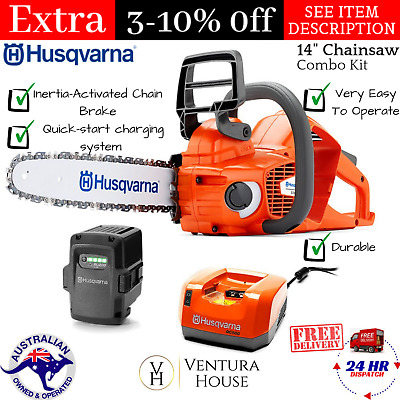 Husqvarna Cordless Petrol Chainsaw With Battery & Charger New Brushless Tool Kit