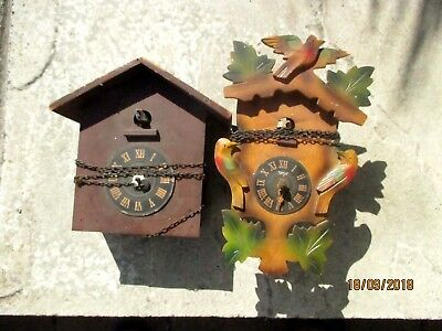 Two Old Cuckoo Clocks for spares / repair.