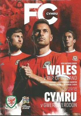 WALES v REPUBLIC OF IRELAND   06/09/2018