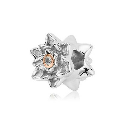BRAND NEW Clogau Silver & Rose Gold Flower Bead Charm £50 off!