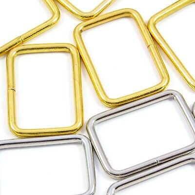 30mm 1 1/4 in. Gold :: Wide :: Loop Ring for Straps Bag Making (M086)