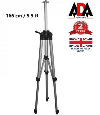 "Telescopic Tripod For Laser Level Or Dumpy Levels 5/8"" Mounting Thread ADA"