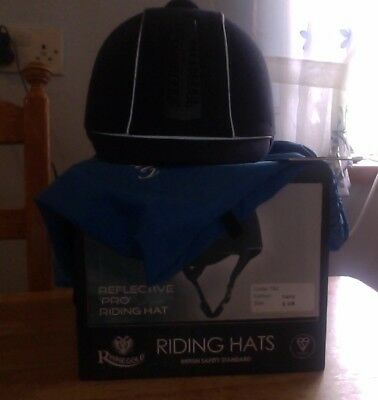 Rhinegold Reflective 'Pro' Ventilated Riding Hat PAS 015 STANDARD ALL SIZES