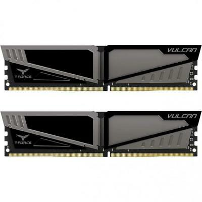 Team Group Vulcan T-Force 16GB (2x8GB) DDR4 Dual Channel Memory Kit Black/Grey