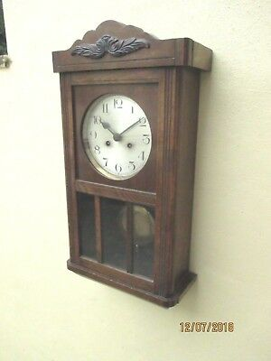 Edwardian 8 Day wall clock , circa 1930s.