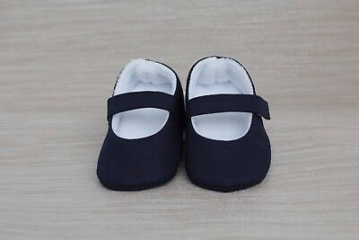 Baby shoes, baby girls shoe, baby shoes girls,Navy cotton Mary Jane shoe
