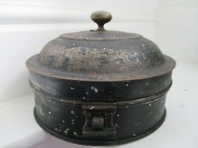 Antique Japanned Tin Spice Box And Grater