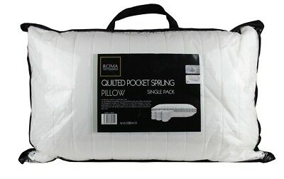 Soft Quilted Pocket Sprung Pillow With Springs Plump Bounce Back Pillow
