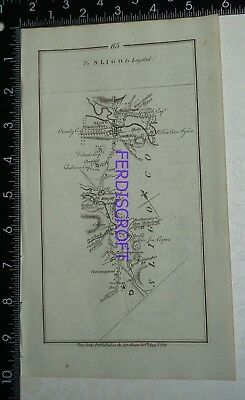 1778 Taylor & Skinner Strip Map Ireland -Sligo,Mullingar,Racondra