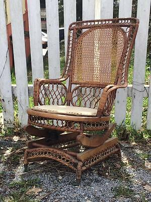 Antique Victorian Wicker rocking chair