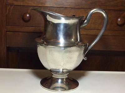 Nickle silver plate antique water pitcher hammered finish
