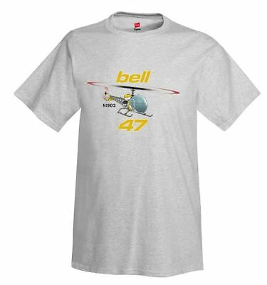Bell 47 (Yellow#2) Helicopter T-Shirt - Personalized w/ Your N#