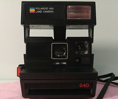 Vintage Polaroid 600 Land Instant Film Camera Black