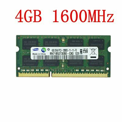 4GB / 1G PC3-12800S DDR3 1600mhz 204Pin CL11 SODIMM Laptop RAM For Samsung LOT
