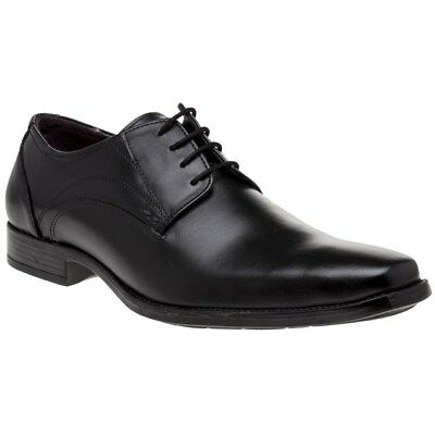 New Mens Lotus Black Huntington Leather Shoes Lace Up