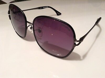 BNWTT 100% auth Zadig Voltaire RARE Black Leather sunglasses with logo RRP £380