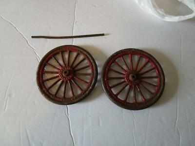 Pair Cast Iron Wheels From Antique Toy