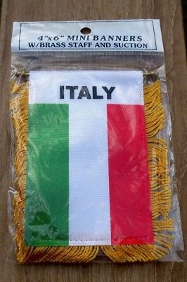 Italy Mini Banner W/ Suction Cup