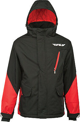 Fly Racing Men's Factory Red/Black Insulated Hooded Casual Pit Jacket