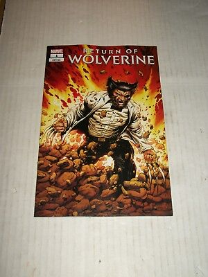 Marvel RETURN OF WOLVERINE #1 Steve McNiven Patch Costume Variant NM/M
