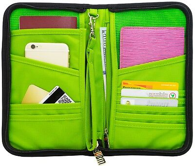 Family Travel Wallet Passport Holder Document Organizer Bag Case