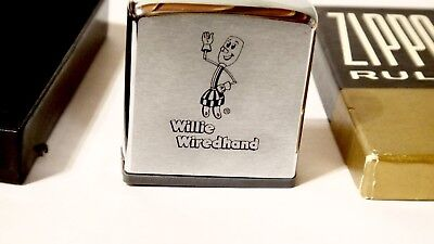 Vintage WILLIE WIREDHAND Mascot WIREHAND ZIPPO RULE