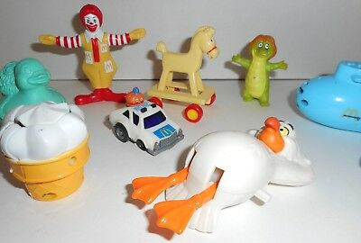 Lot of 10 Collectible McDonald's Toys