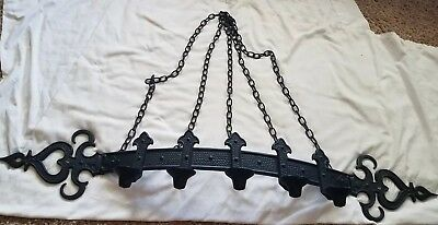 VTG 1966 Sexton Gothic Medieval Wall Hanging Candle Holder Chandelier Halloween