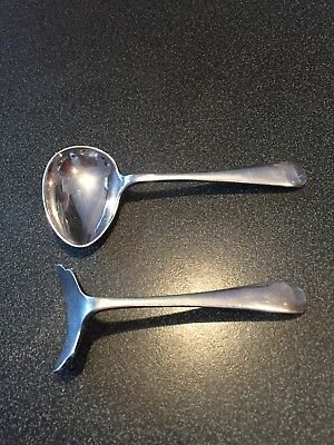 Vintage Baby Spoon And Pusher Silver Plate