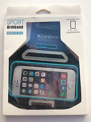 DanForce Sports Armband for Apple iPhone 6/6S - 5/5S/5C - All Fitness Activity