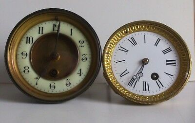 2 French Clock Movements Spares Repair