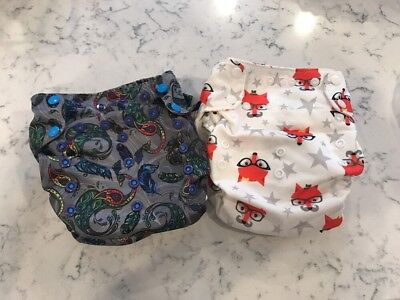 Lot of 2 Smart Bottoms Organic AIO Cloth Diapers