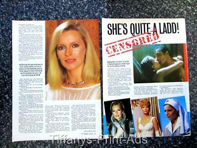 CHERYL LADD * Charlies Angels * 2 page Magazine Clippings Feature PHOTO *  1980s